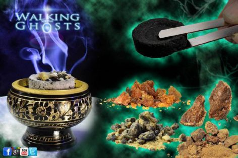 Brass Incense Burner Bowl Charcoal & Resin Set, Rituals Meditation Magick Wicca